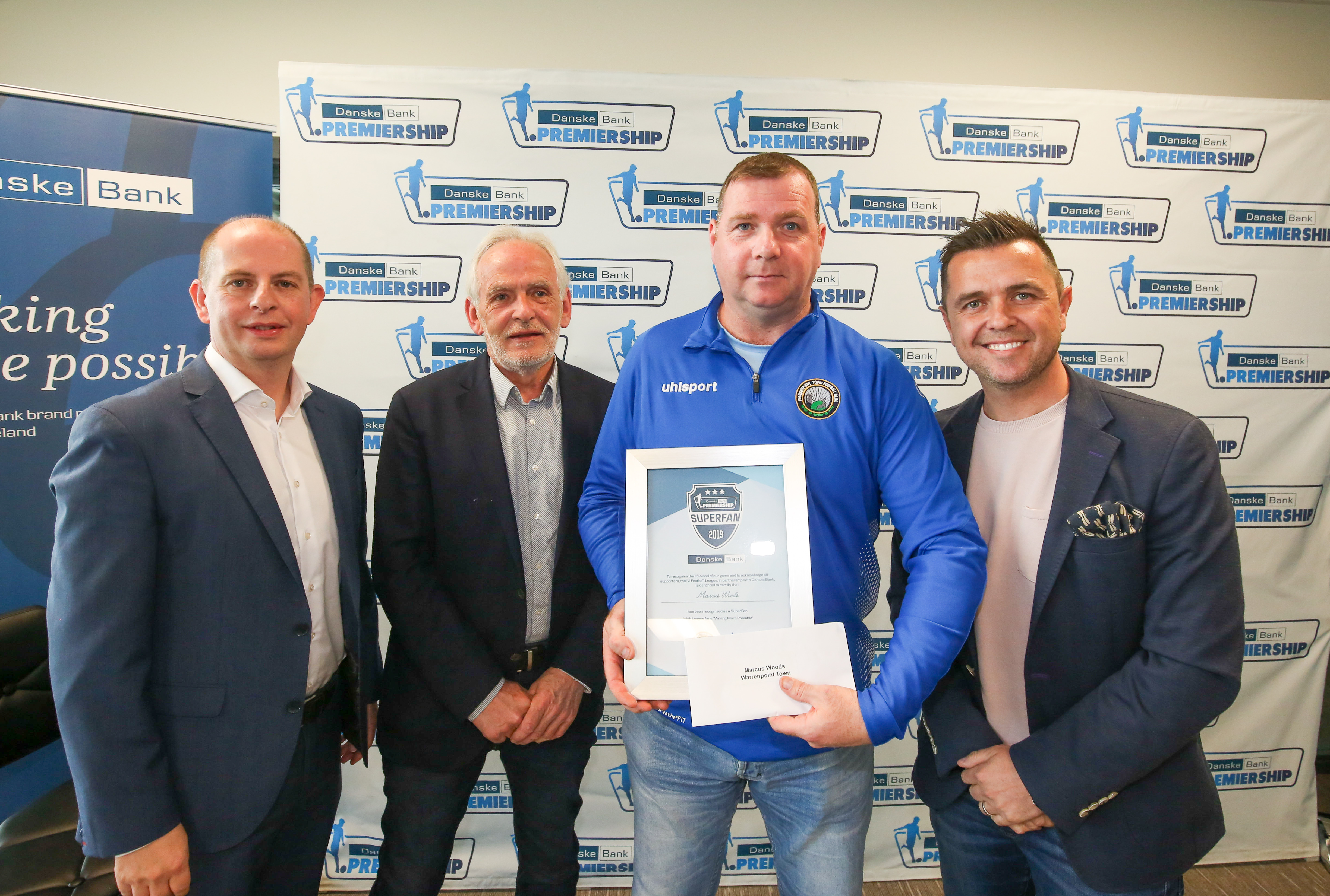 Warrenpoint Town FC » MARCUS WOODS NAMED WARRENPOINT TOWN SUPERFAN